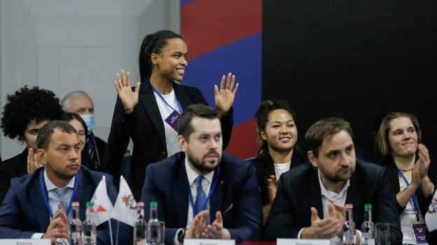 Презентация нового игрока женской командыРК ЦСКА Даниэллы Джейлани.