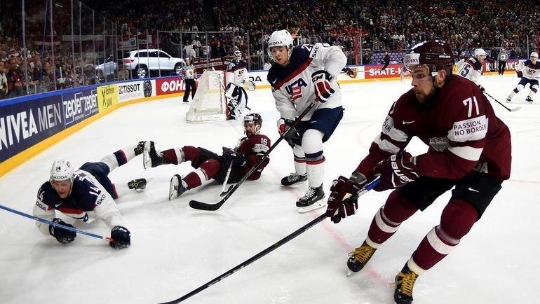 Чемпионат мира по хоккею 2017. Латвия — США. Фото AFP