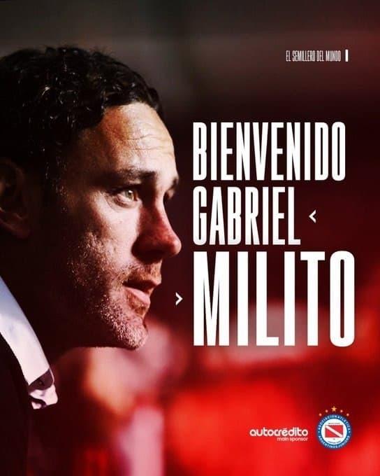 Габи Милито. Фото Twitter