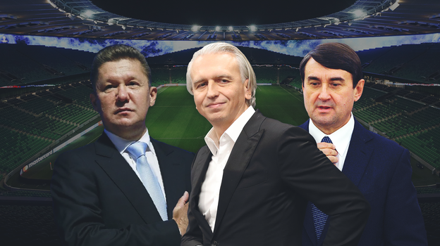 Алексей Миллер, Александр Дюков, Игорь Левитин. Фото «СЭ»