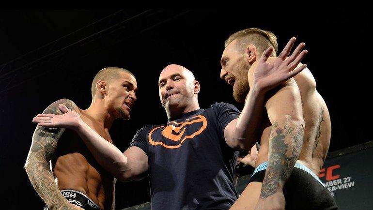 Дастин Порье иКонор Макгрегор. Фото UFC
