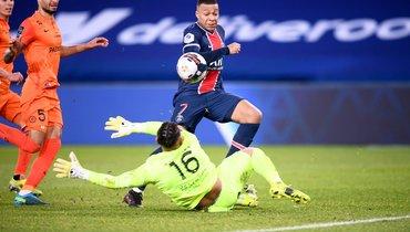 «ПСЖ» разгромил «Монпелье» в100-м матче Неймара
