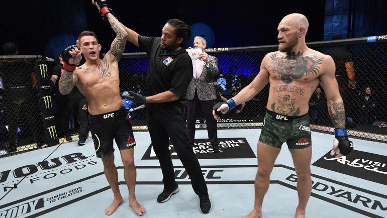 24января. Абу-Даби. UFC 257. Дастин Порье победил Конора Макгрегора.