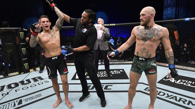 24января. Абу-Даби. UFC 257. Дастин Порье победил Конора Макгрегора. Фото Reuters