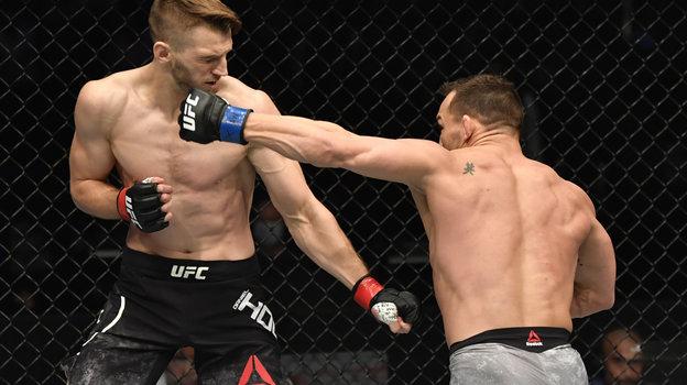 24января. Абу-Даби. UFC 257. Майкл Чендлер нокаутировал Дэна Хукера. Фото Reuters