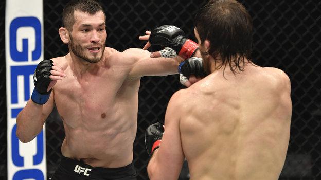 24января. Абу-Даби. UFC 257. Узбек Махмуд Мурадов одержал победу над американцем Эндрю Санчесом. Фото Reuters