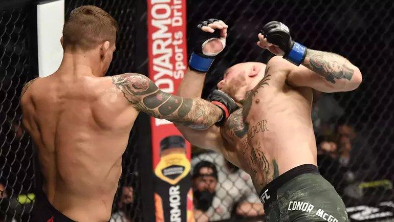 Дастин Порье победил Конора Макгрегора натурнира UFC 257. Фото Zuffa LLC