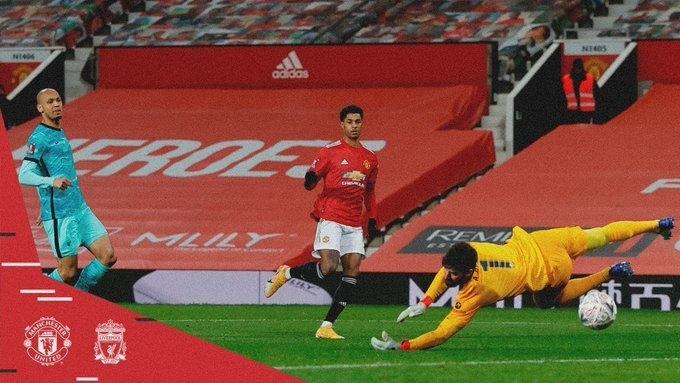 «Манчестер Юнайтед»— «Ливерпуль»— 3:2. Маркус Рэшфорд забивает второй гол хозяев. Фото «Манчестер Юнайтед»