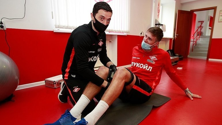Владимир Чепзанович и Александр Соболев. Фото ФК «Спартак»