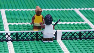 USOpen выложил видео игры сестер Уильямс ввиде LEGO-фигурок