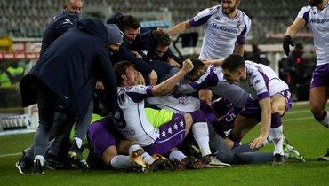 «Фиорентина» упустила победу вигре против «Торино». Команда Кокорина доигрывала матч вдевятером