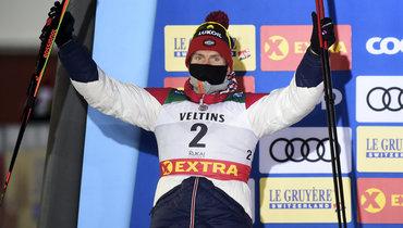 Легков— опобеде Большунова: «Сильнейший спортсмен, вочередной раз всем все показал»