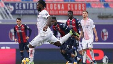 «Милан» обыграл «Болонью» ипродолжает лидировать всерии А