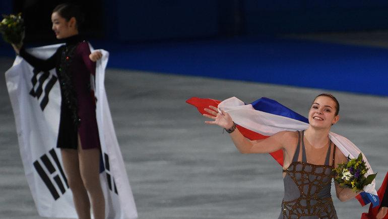20февраля 2014 года. Сочи. Аделина Сотникова (справа) иЮна Ким. Фото Александр Федоров, «СЭ»