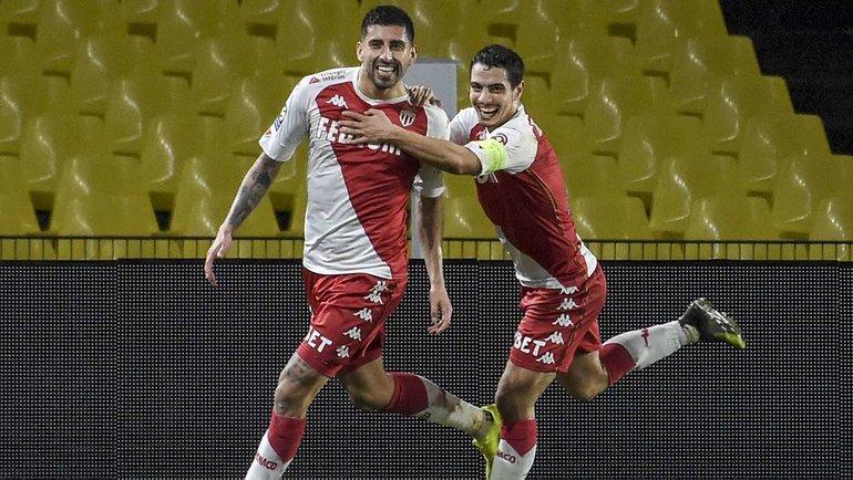 31января. «Нант»— «Монако» (1:2). Марипан забивает гол. Фото AFP