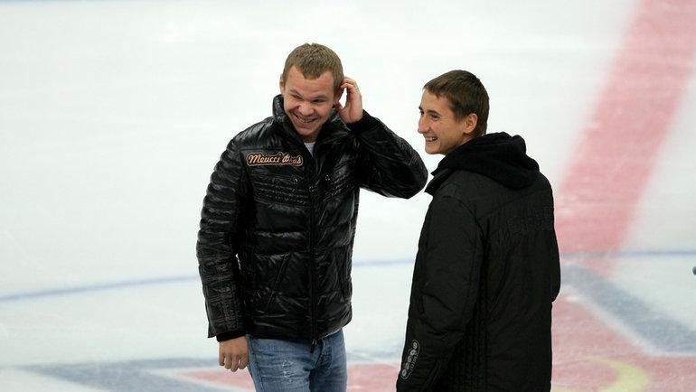 Александр Анюков иВладимир Быстров. Фото Владимир Беззубов, photo.khl.ru