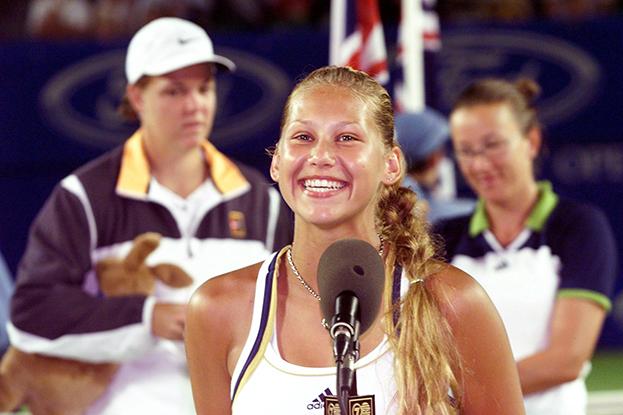 1999 год. Анна Курникова. Фото AFP