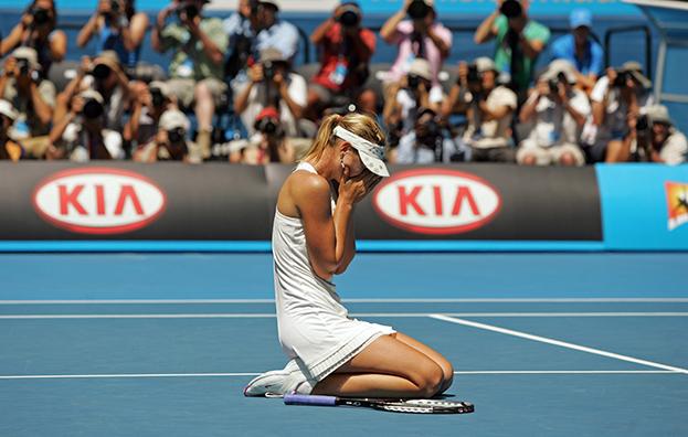 2008 год. Мария Шарапова. Фото Reuters