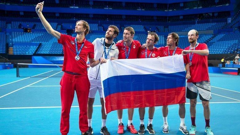 Сборная России наATP Cup. Фото Instagram