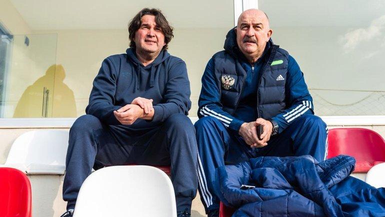 Шамиль Газизов и Станислав Черчесов. Фото сборная России