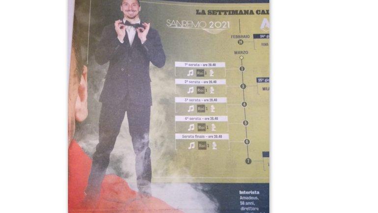 Ибрагимович станет главным героем фестиваля вСан-Ремо изаработает наэтом больше миллиона.