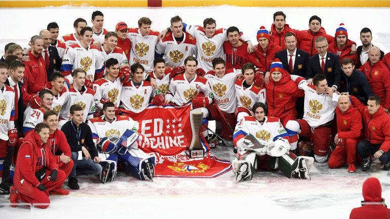 Сборная России похоккею вмолодежном составе выиграла стартовый этап Евротура-2020/21 вФинляндии. Фото Reuters