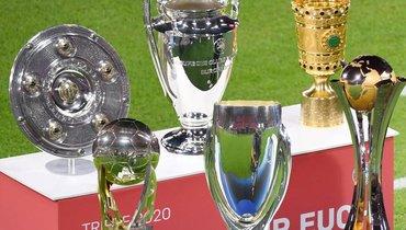 Все трофеи «Баварии». Фото Twitter