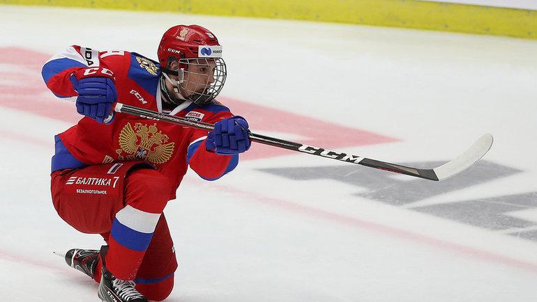 Никита Чибриков дебютировал засборную России. Фото ФХР
