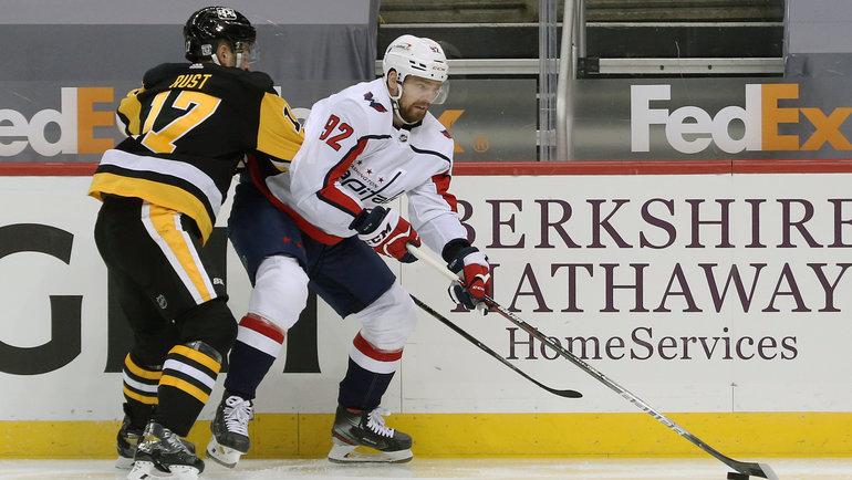 Форвард «Вашингтона» Евгений Кузнецов неиграл с19января. Фото USA Today Sports