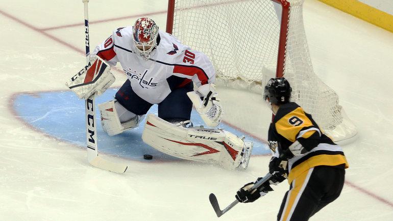 Вратарь «Вашингтона» Илья Самсонов провел всезоне всего два матча. Фото AFP