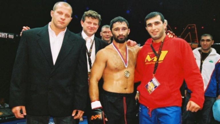Слева направо: Федор Емельяненко, Вадим Финкельштейн, Амар Сулоев, Арман Гамбарян.