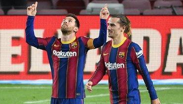 13февраля. «Барселона»— «Алавес»— 5:1. Месси отмечает очередной забитый мяч.