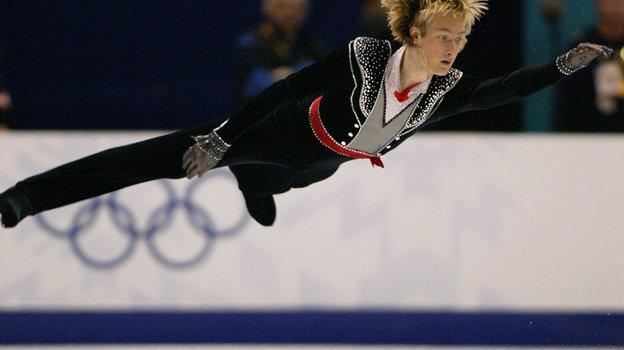 14февраля 2002 года. Солт-Лейк-Сити. Выступление Евгения Плющенко. Фото Reuters