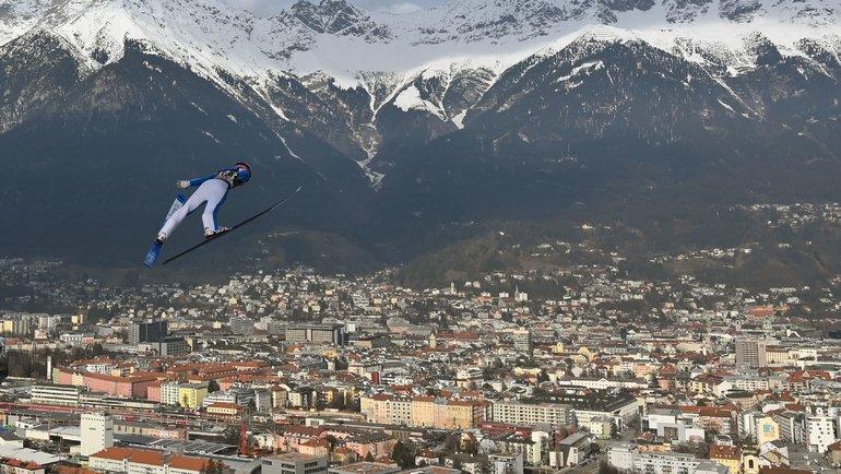 Вид наОберстдорф вовремя соревнований попрыжкам страмлина. Фото AFP