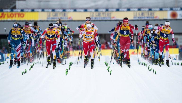 Лыжный стадион вОберстдорфе. Фото AFP