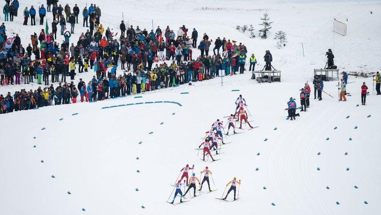 Соревнования полыжным гонкам вОберстдорфе. Фото AFP
