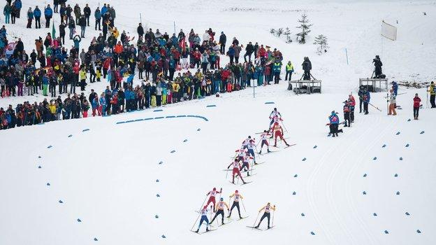 Соревнования по лыжным гонкам в Оберстдорфе. Фото AFP