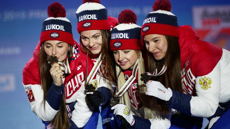 Юлия Ступак (Белорукова), Анастасия Седова, Анна Нечаевская иНаталья Непряева. Фото Reuters