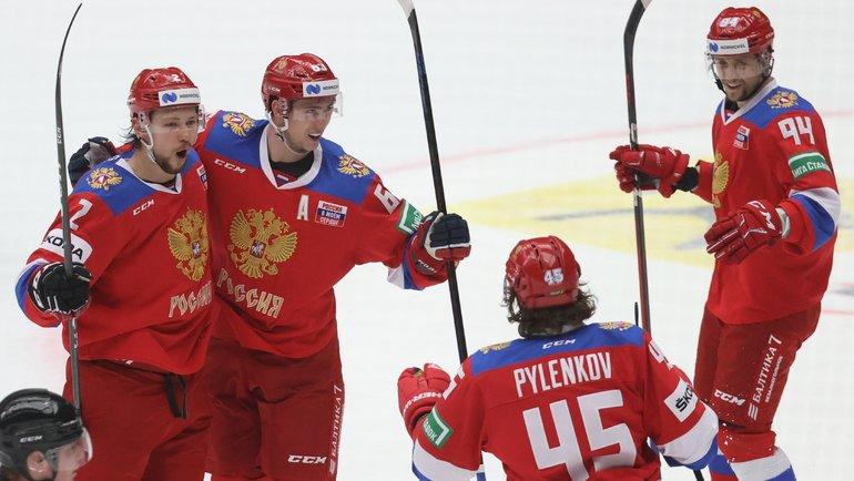 Сборная России победила наэтапе Евротура. Фото AFP
