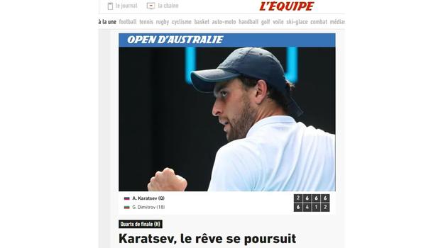 L'Equipe об Аслане Карацеве.