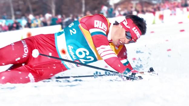 Кадр из тизера чемпионата мира по лыжным видам спорта.