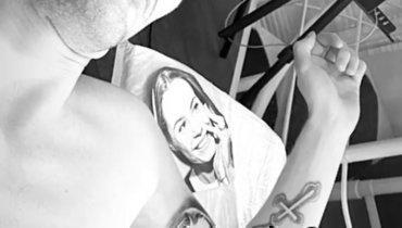 Татуировка Олега Иванова. Фото Instagram