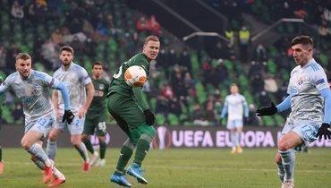 «Краснодар» проиграл загребскому «Динамо» впервом матче 1/16 финала Лиги Европы