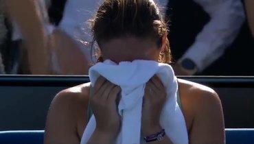 Касаткина расплакалась после победы натурнире вМельбурне
