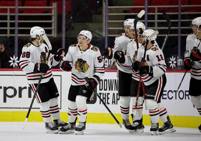 """20 февраля. """"Чикаго"""" празднует гол. Фото nhl.com"""