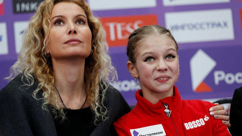 Этери Тутберидзе иАлександра Трусова. Фото Reuters