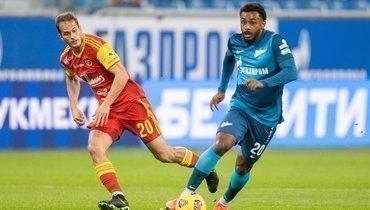 20февраля. Санкт-Петербург. «Зенит»— «Арсенал»— 1:2. Горан Чаушич иВендел (справа).