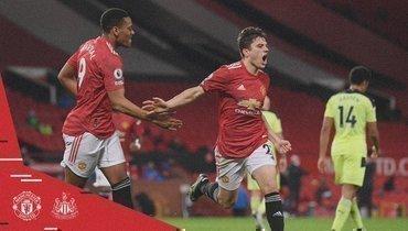 «Манчестер Юнайтед» победил «Ньюкасл» ивернулся навторое место