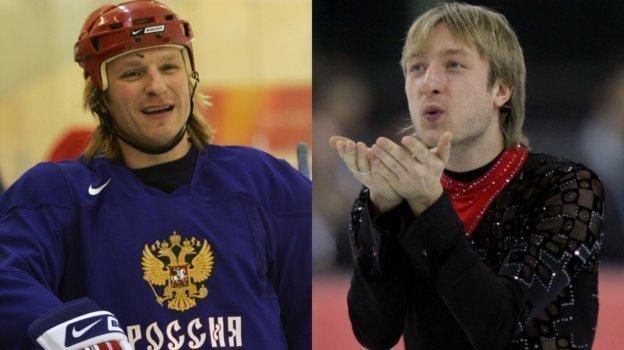 Дарюс Каспарайтис и Евгений Плющенко в Турине-2006. Фото Александр Вильф, -