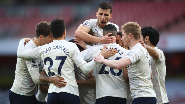 "Футболисты ""Манчестер Сити"". Фото Reuters"